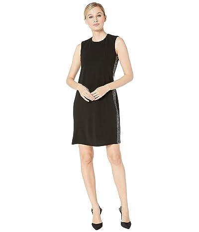 Calvin Klein Embellished Side Stripe Sheath Dress (Black) Women