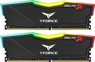 Team RGB(発光型) DDR4 3200Mhz(PC4-25600) 8GBx2枚(16GBkit) RGB DELTAシリーズ デスクトップ用メモリ ハイスピードタイプ 日本国内無期限保証