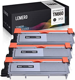 LEMERO Compatible Toner Cartridge Replacement for Brother TN660 TN630 TN-660 TN-630 - for Brother DCP-L2540DW HL-L2380DW MFC-L2740DW HL-L2300D HL-L2340DW MFC-L2700DW (Black, High Yield, 3 Pack)