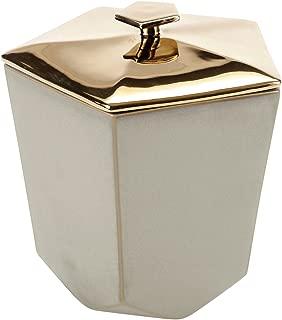 FLOOR | 9 Geo Ceramic Ice Bucket with Metallic Lid