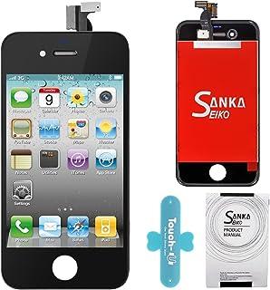 fcb0f477612 Sanka LCD Pantalla Táctil con Marco de Digitalización Asamblea Pantalla de  Recambio para iPhone 4 -
