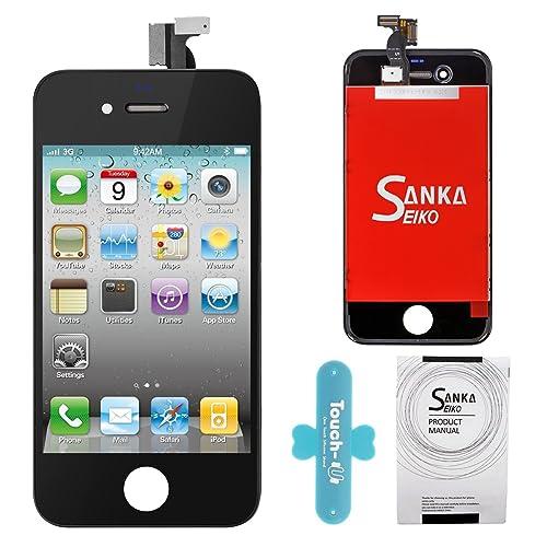 946372da202 SANKA LCD Pantalla Táctil con Marco de Digitalización Asamblea Pantalla de  Recambio para iPhone 4 -