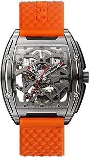 Reloj Automático Mecánicos Hombres Relojes Analógicos Relojes de Pulsera de Aleación de Titanio con Exposición Posterior P...