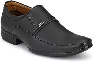 Stylelure Black Formal Slip-On Shoes for Men