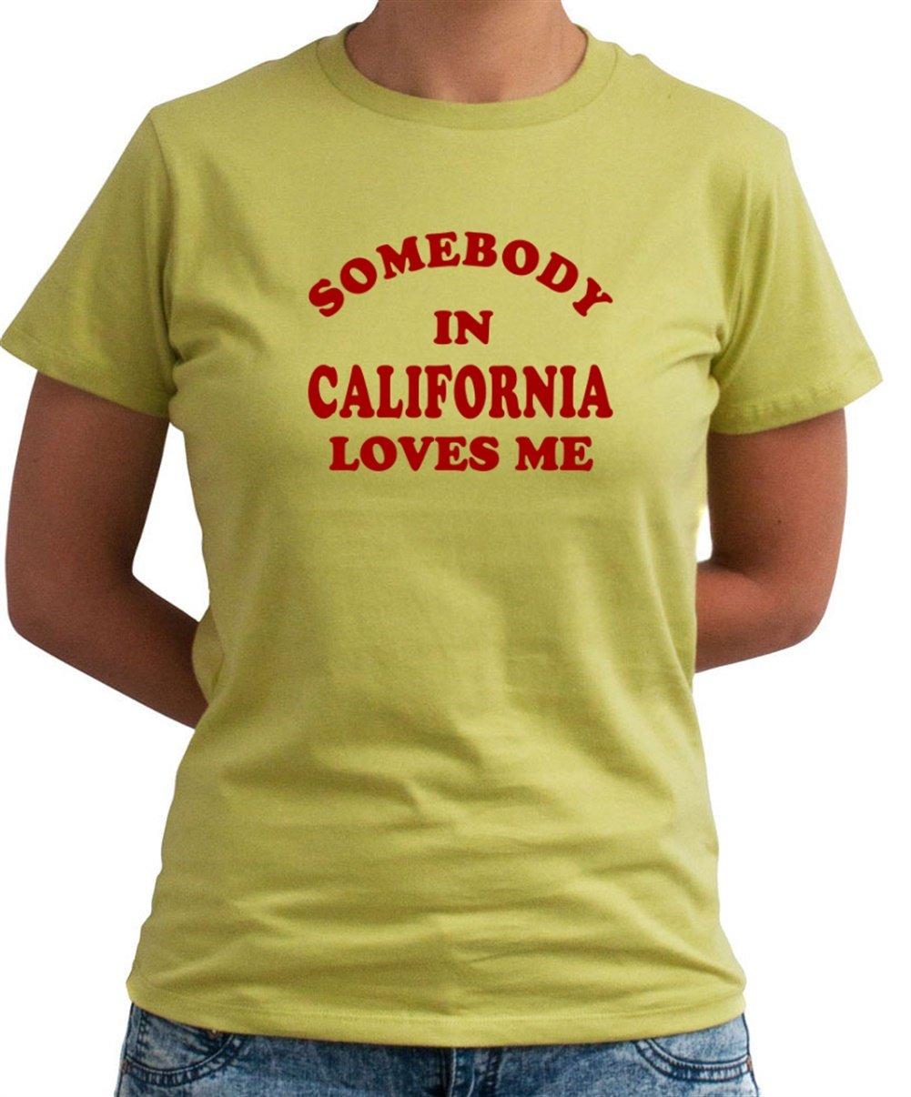 Some Body California para mujer Camiseta de, verde oliva, L: Amazon.es: Deportes y aire libre