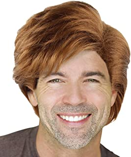 Cece Mens George Michae Style Cosplay Hair Wigs w/ Wig Cap for Costume Party Halloween