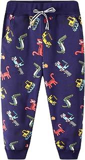 Pantalones Deportivos para Niño Algodon Cordón Ajustable Cinturón Pantalones Largos Deporte Termicos Bolsillo Elasticos Es...