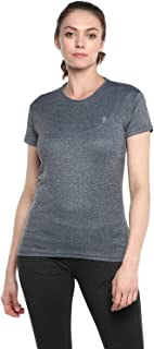 LEVIZO Round Neck Half Sleeve Yoga Sports Dry fit Active Wear Gym T Shirt for Womens
