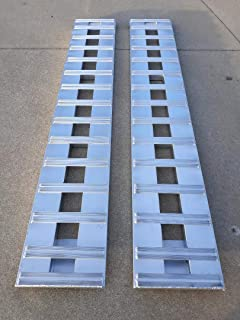 "Set of 2. 7' Aluminum Ramps Car ATV Truck Trailer Ramps 2 RAMPs = 6000lb Capacity 84"" (7') Long..."