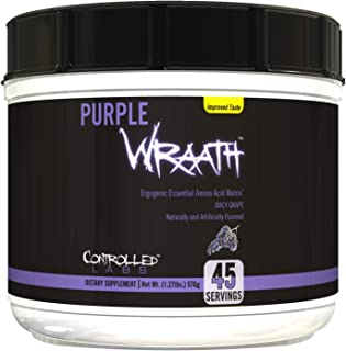 Purple Wraath by Controlled Labs, BCAA and EAA Amino Acid Supplement, 45 and 90 Servings with Endurance BLend Intra Workou...