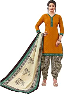 Jevi Prints Women's Cotton Printed Stitched Readymade Punjabi Suit With Dupatta (CP-176)