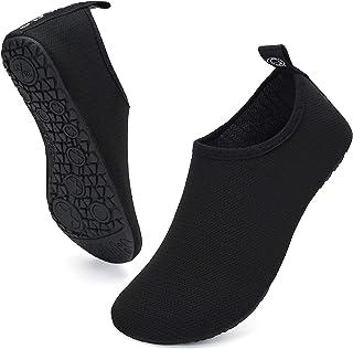 UBFEN Mens Womens Water Shoes Aqua Socks Quick Dry Barefoot Shoes for Yoga Swim Surf Pool..