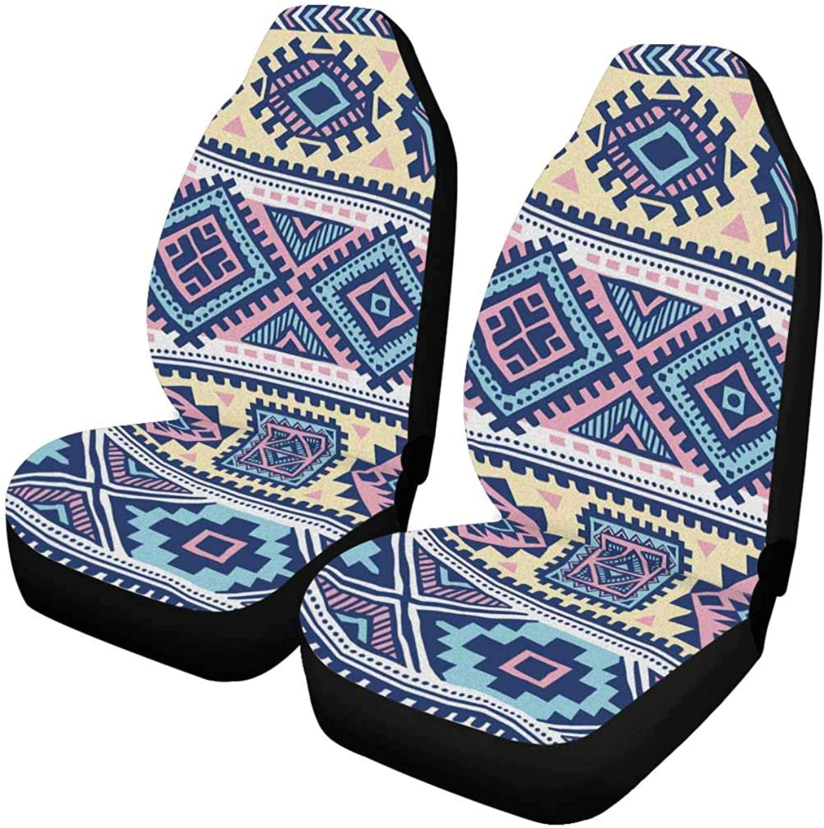 INTERESTPRINT Tribal Ethnic Pattern Car Front Seat Cheap SALE Start gift Cover O Seats