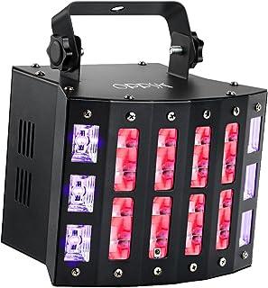OPPSK DJ Light, 48W 3in1 Multifunction Mixed Effects Stage Lighting, 9 Colors DJ Lights 6LEDs UV Black Lights and Strobe S...
