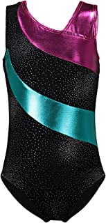 DAXIANG Gymnastics Leotard for Little Girl Rainbow Stripes Ballet Tutu 2-15 Years