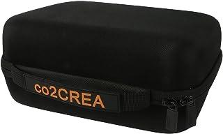 co2CREA Cubierta de bolsas de transporte de almacenamiento de viaje para monitor de presión arterial del brazo superior OMRON M500 M400 M 300 IT [negro]