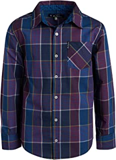Ben Sherman Boys Long Sleeve Button Down Shirt (Navy/Red Dots, 10/12)'
