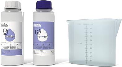 Etelec CRYSTALGEL 2 liter, siliconengelset, 2 componenten, kristalhelder, isolatie, verzegelingsdozen, 2 flessen 1 liter +...