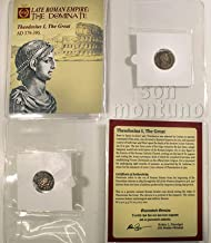 THEODOSIUS I - Ancient Roman Bronze Coin in Folder with Certificate of Authenticity 379-395 AD - THEODOSIUS THE GREAT