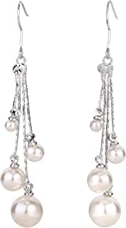 Best long dangle pearl earrings Reviews