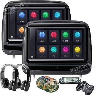 Xtrons® 5,1x 22,9cm Paire écran tactile de voiture auto appui-tête lecteur DVD Jeu..