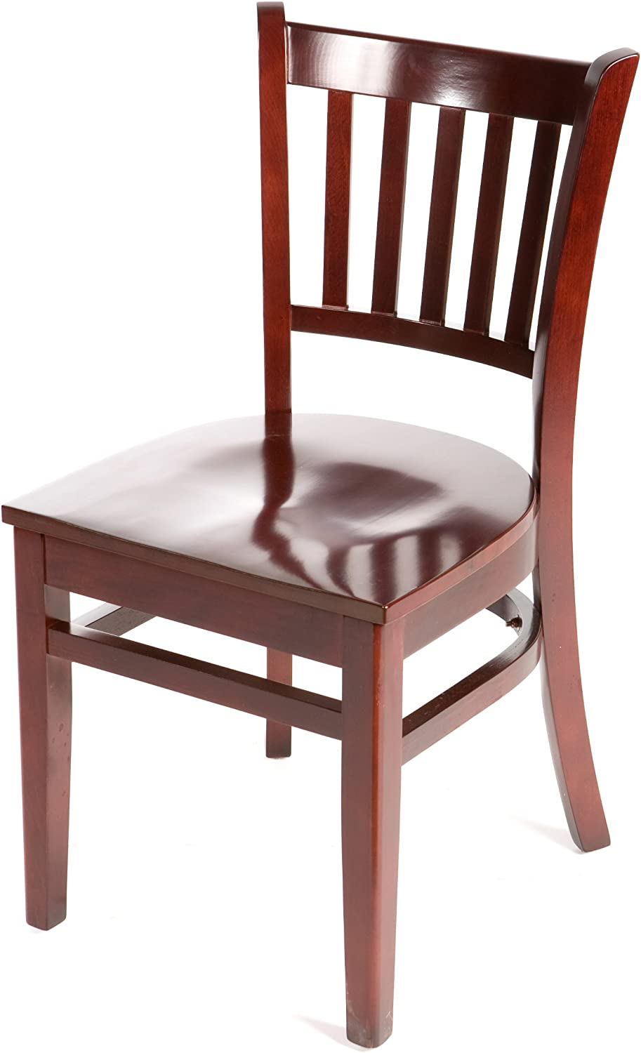 Oak Street Manufacturing WC102MH Solid Mahogany Wood Frame greenical back Dining Chair with Mahogany Wood Seat, 18  Width x 17  Depth