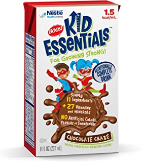 Boost Kid Essentials 1.5 Nutritionally Complete Drink, Chocolate Craze, 8 Ounce, Pack of 27