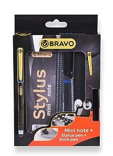 Bravo Mini Notebook with Stylus Pen and Dark Pen Set