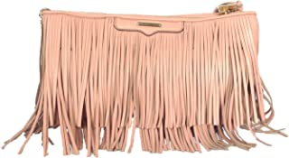 Rebecca Minkoff Large Finn Fringe Clutch, Light Coral Pink