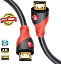 HDMI Cable 4K / HDMI Cord 33ft - Ultra HD 4K Ready HDMI 2.0 (4K@60Hz 4:4:4) - High Speed 18Gbps - 26AWG Cord-Ethernet /3D / ARC/CEC/HDCP 2.2 / CL3 by Farstrider