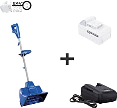Snow Joe 24V-SS11-XR 24-Volt iON+ Cordless Snow Shovel Kit | 11-Inch | W/ 5.0-Ah Battery and Charger