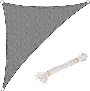 WOLTU Sonnensegel Dreieck 2,5x2,5x3,5m Grau atmungsaktiv Sonnenschutz HDPE Windschutz mit UV Schutz für Garten Terrasse Camping