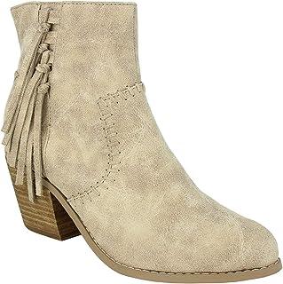 Not Rated Zaine Women's Boot 6 B(M) US Cream
