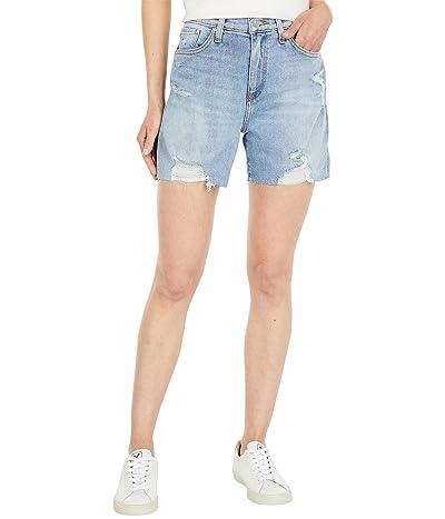 Hudson Jeans Devon High-Rise Biker Shorts in Lift Me Up