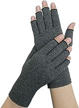 Guantes de artritis para mujeres y hombres, guantes de compresión Wisolt Therapy para aliviar el dolor de las articulaciones y la artritis, guantes de medio dedo