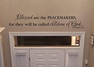 Teisyouhu Wall Decal Decorative Matthew 5:9 Blessed are The Peacemakers for They Will Be Called Children of God Police Bible Verse Peace Art Sticker Home Vinyl Murals