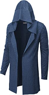 Sponsored Ad - H2H Men's Casual Regular Fit Cardigan Shawl Collar Long Line with No Button