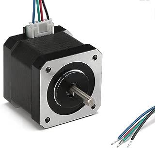 Nema 17 Stepper Motor, DROK 40mm High Torque Bipolar DC Step Motor Kit, 0.46Nm Low Noise 42 2-Phrase Universal Electric Motor DC motor for 3D Printer Laser Engraving