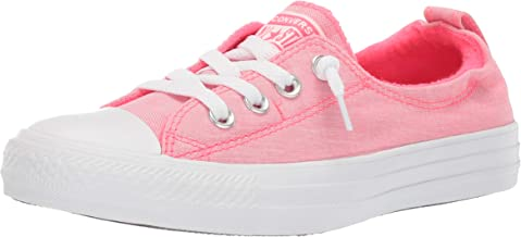 womens white and pink converse
