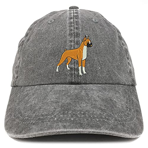 Trendy Apparel Shop Boxer Embroidered Dog Theme Low Profile Dad Hat Cotton  Cap ee1d24619623