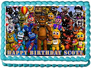 Five nights at Freddy's World party edible cake image cake topper -7.5