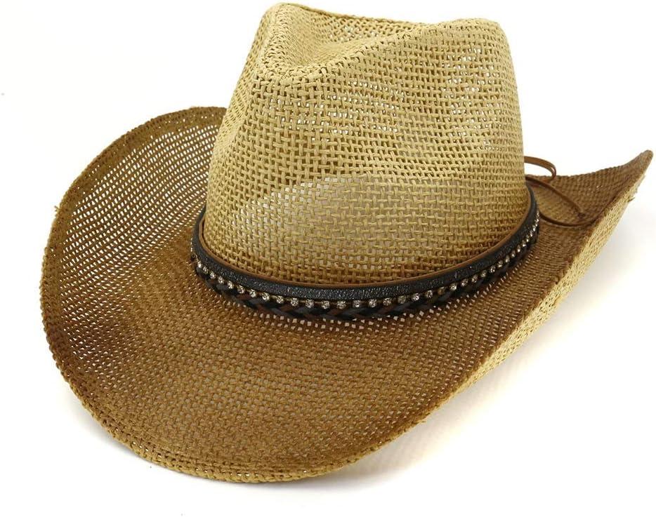 Ranking TOP2 LIRRUI Straw Hat Men Women Spray Cowboy Large-scale sale Outdoor Paint