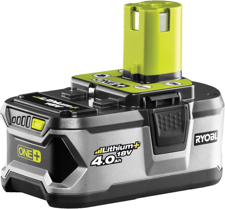 RYOBI 5133001907 Batería Litthium+ 18V-(4.0 Ah) Gran Durabilidad y Autonomía, 18 V, Gris