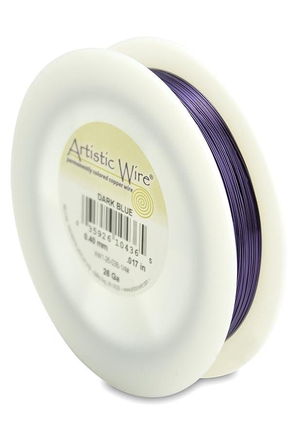 Artistic Wire 26-Gauge Dark Blue Wire, 1/4-Pound