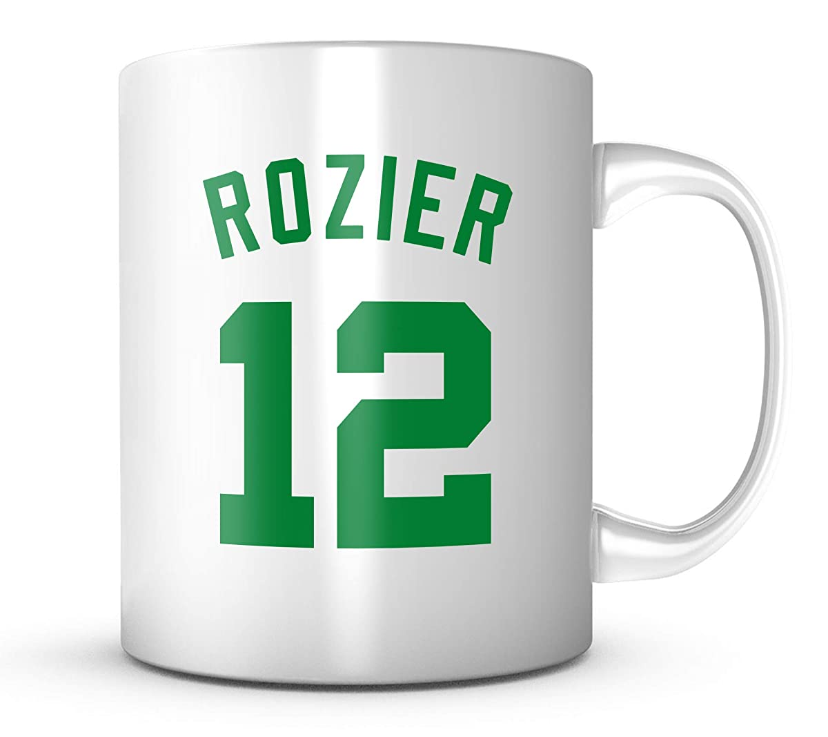 Terry Rozier #12 Mug - Jersey Number Green/White Coffee Cup