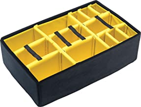 Pelican Yellow Padded dividers for The 1650 case. (with lid Foam)