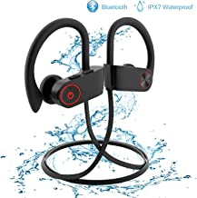 Wireless Earbuds,Bluetooth Earphones Stereo Bass Sports Earphones with Mic IPX7 Waterproof in-Ear Headphones Noise Cancelling (Black)
