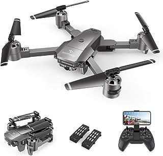 SNAPTAIN ドローン カメラ付き 120°広角1080P HD オプティカルフローポジショニング機能 2.4GHz 200g未満 折り畳み式 FPVリアルタイム伝送 フォローミーモード リターンモード ヘッドレスモード モード1/2転換可...
