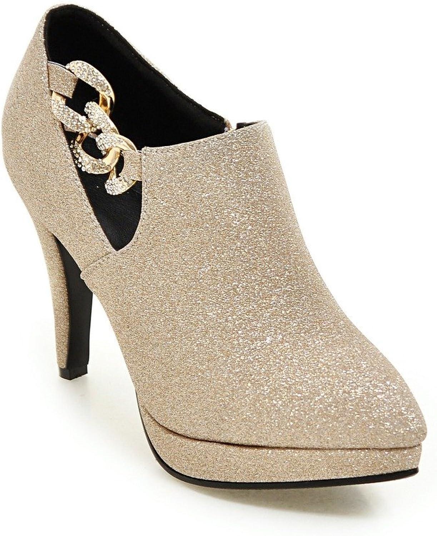 AIWEIYi Women Pumps Pointed Toe Stilettos High Heels Red Wedding shoes