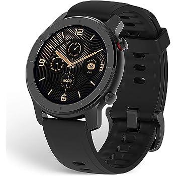 Amazfit GTR スマートウォッチ 腕時計 歩数計 着信通知 12日間の連続使用 高精細 AMOLEDディスプレイ 5ATM防水 12種類運動モード (42mm, スターリーブラック)